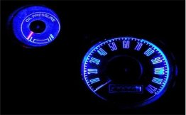 1967-1968 MUSTANG BLUE LED GAUGE KIT