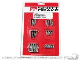1964-1966 MUSTANG EXTERIOR TRIM SCREW KIT
