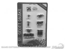 1967-1968 MUSTANG COUPE INTERIOR SCREW KIT