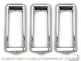 1967 Mustang Tail Light Bezel Kit (Satin-Chrome)