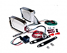 1967-1968 Mustang Deluxe Remote Mirror Kits with LED indicators
