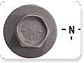 1967-1973 MUSTANG SM BODY BOLT DISC BLACK N