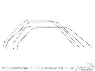 1964-1966 MUSTANG Standard upholstery bolster wires 4pc