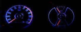 1969-1970 MUSTANG BLUE LED GAUGE KIT